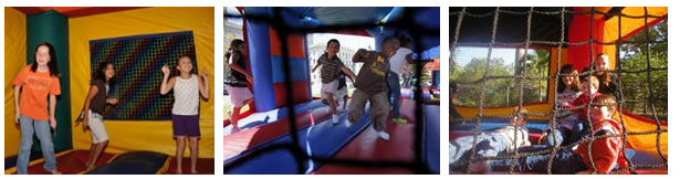 kids jumping in bounce