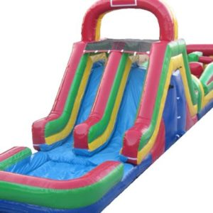 Obstacle Course with Double Slide